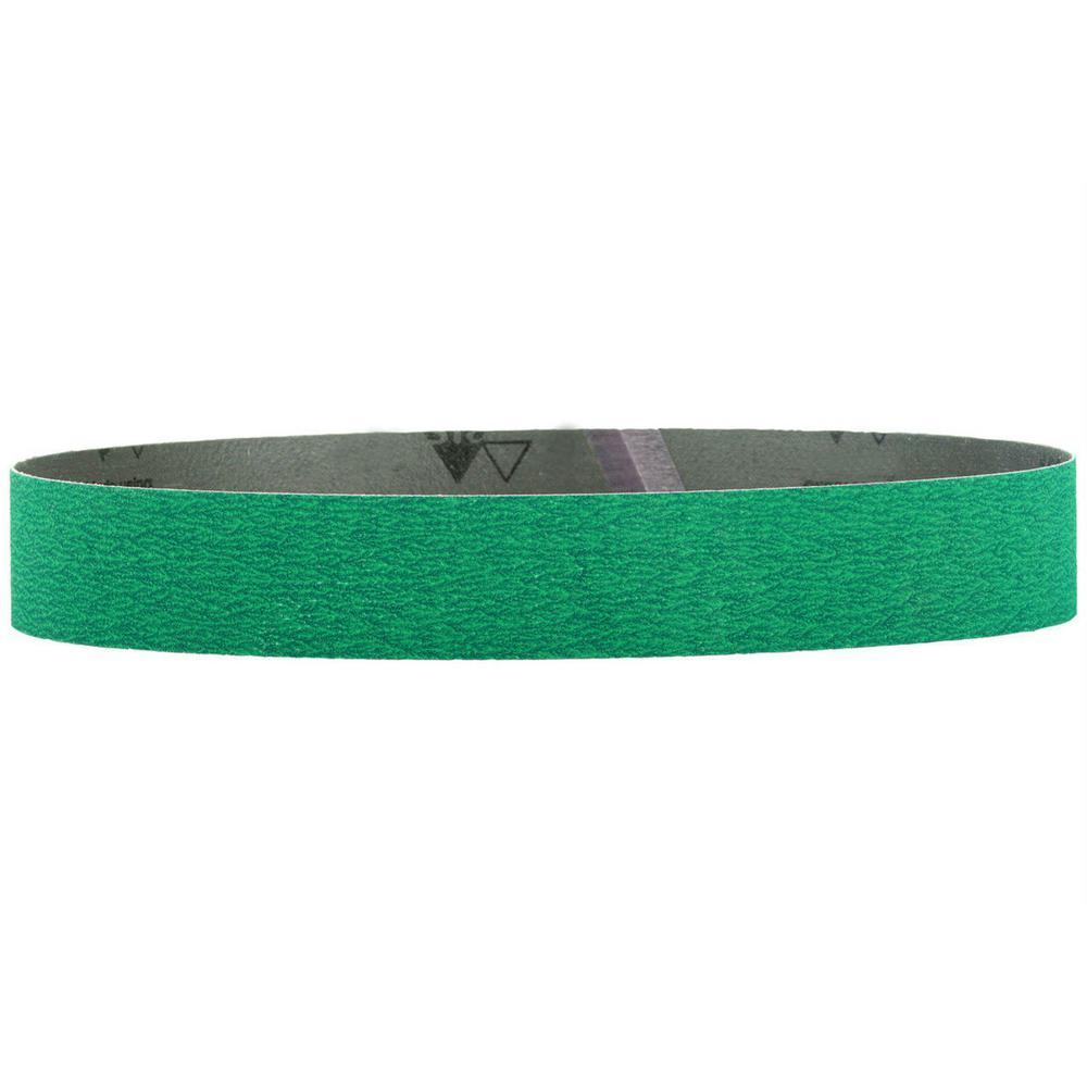 1-1/2 in. x 30 in. 120-Grit Ceramic Abrasive Belt (10-Pack)