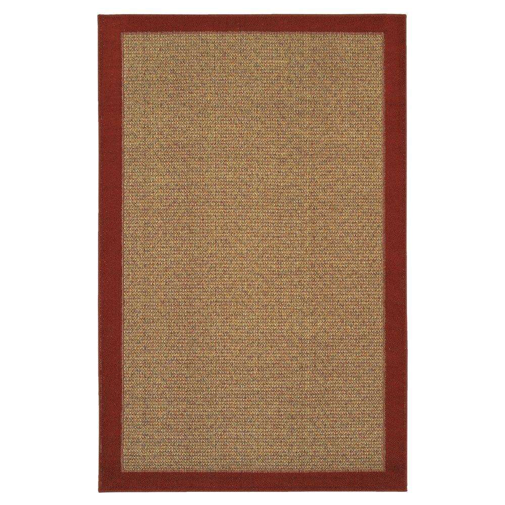 Mohawk Willow Border Red 2 ft. 6 in. x 3 ft. 10 in. Area Rug