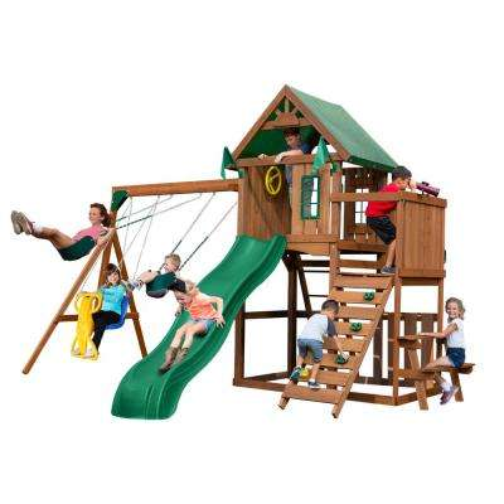 Knightsbridge Wood Complete Swing Set