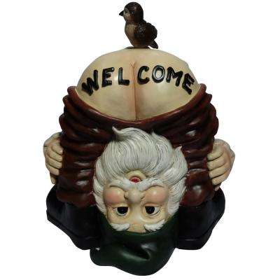 Mooning Welcome Gnome with Bird Statue