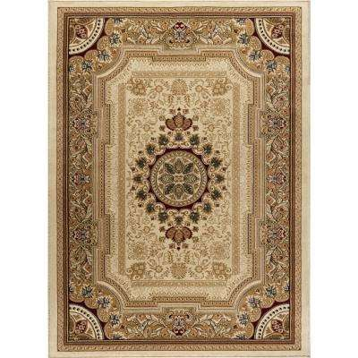 Sensation Ivory 7 ft. 10 in. x 10 ft. 3 in. Traditional Area Rug