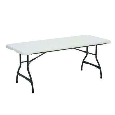 White Stacking Folding Table