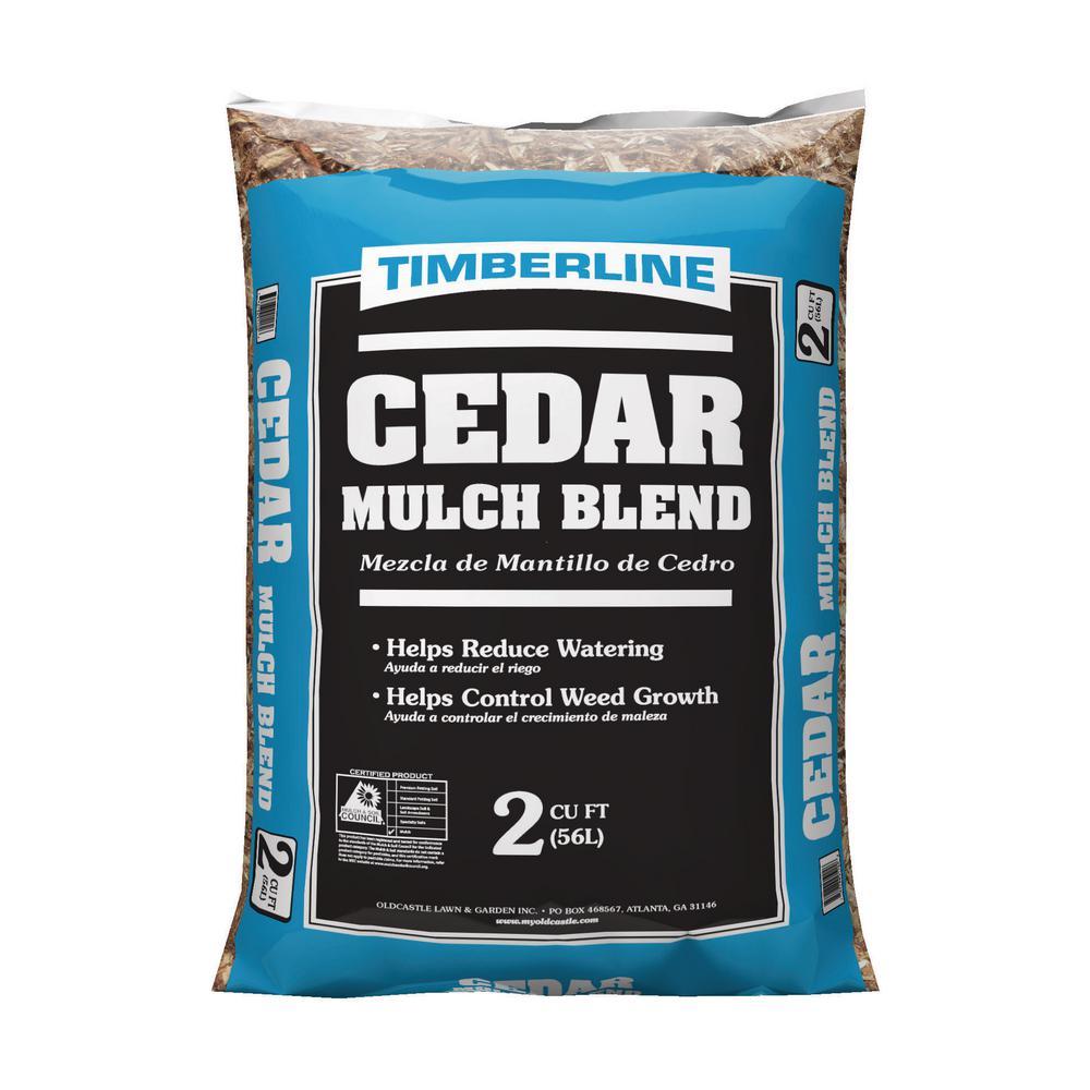 timberline 2 cu ft cedar mulch 52058060 the home depot