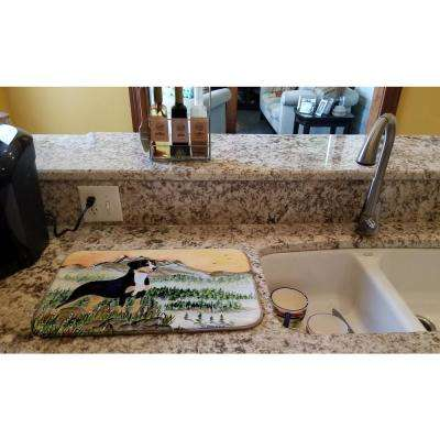 14 in. x 21 in. Multicolor Entlebucher Mountain Dog Dish Drying Mat