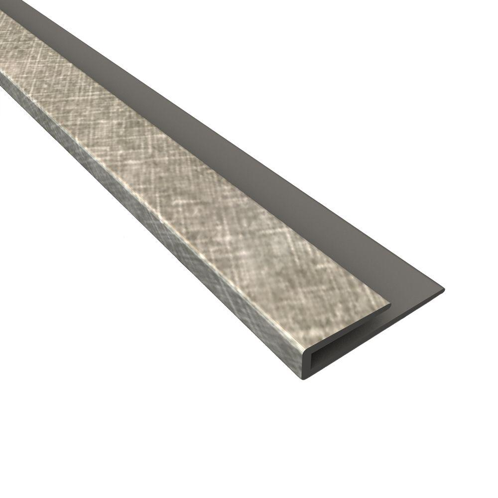 Fasade 4 Ft Crosshatch Silver J Trim