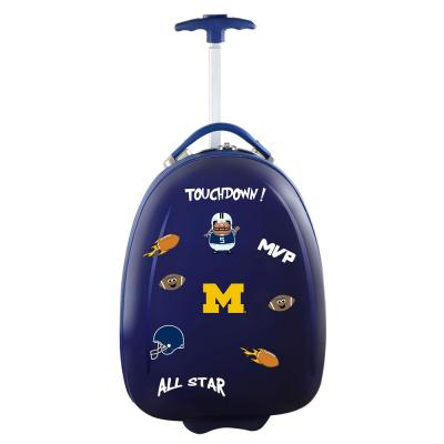 NCAA Michigan 18 in. Navy Kids Pod Luggage Suitcase