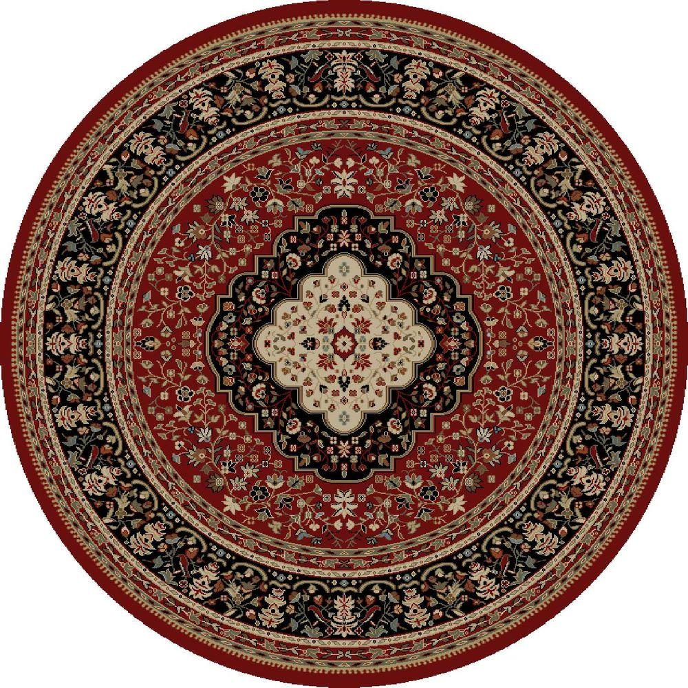 Concord Global Trading Ankara Kerman Red 7 ft. 10 in. Round Area Rug