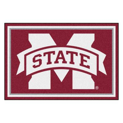 NCAA - Mississippi State University Red 8 ft. x 5 ft. Indoor Area Rug
