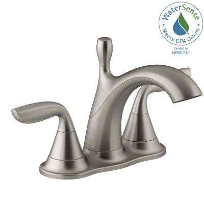 Williamette 4 in. Centerset 2-Handle 1.2 GPM Bathroom Faucet with Pop-Up Drain in Vibrant Brushed Nickel