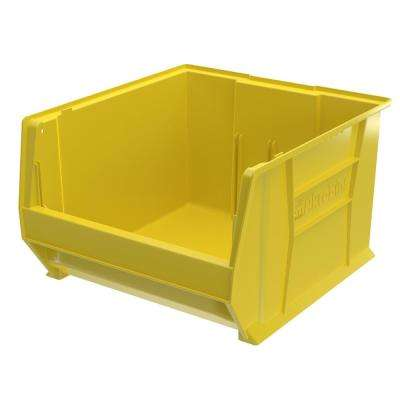 Super-Size AkroBin 18.3 in. 300 lbs. Storage Tote Bin in Yellow with 14 Gal. Storage Capacity