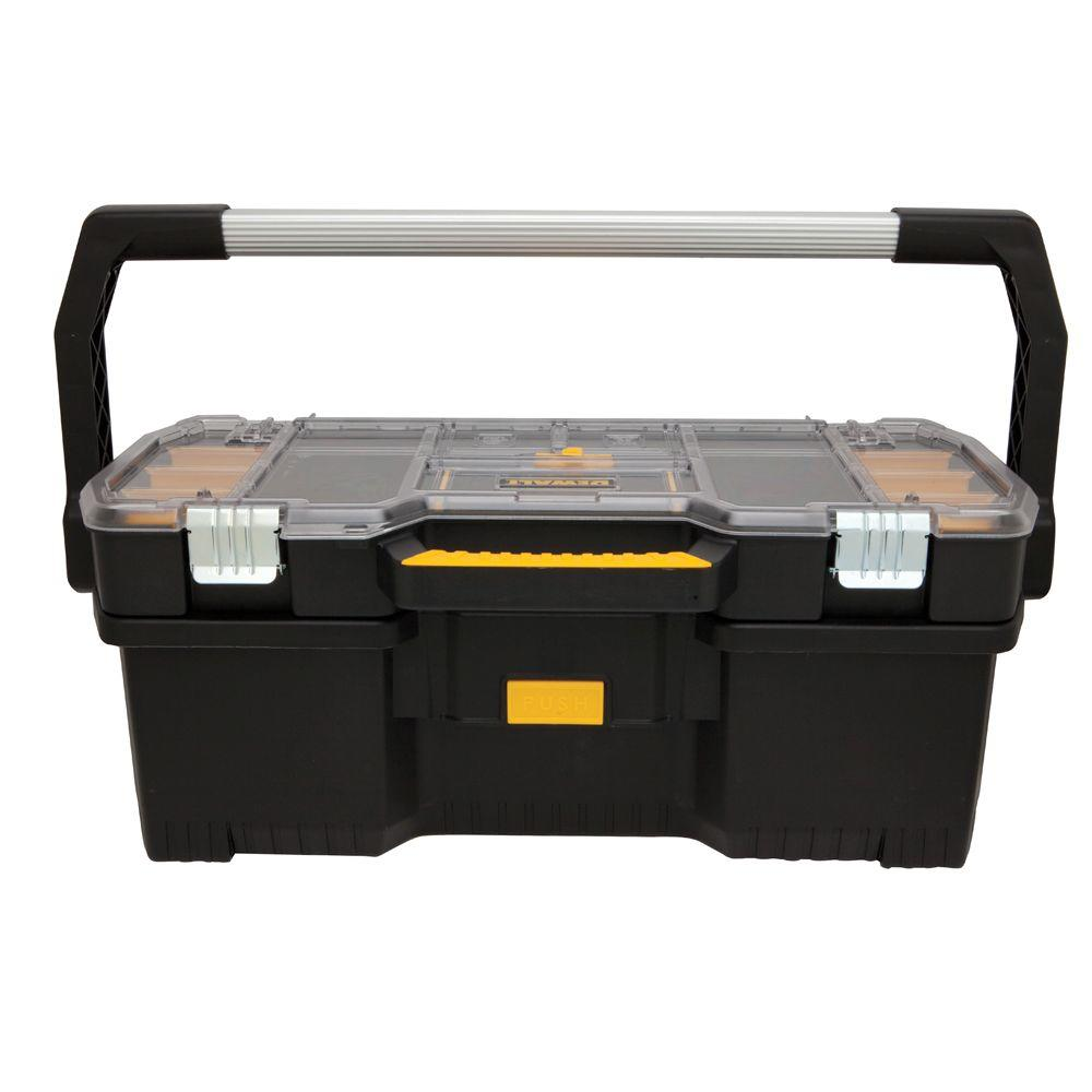 DEWALT 24 in. 2-in-1 Tote with Removable Small Parts Organizer