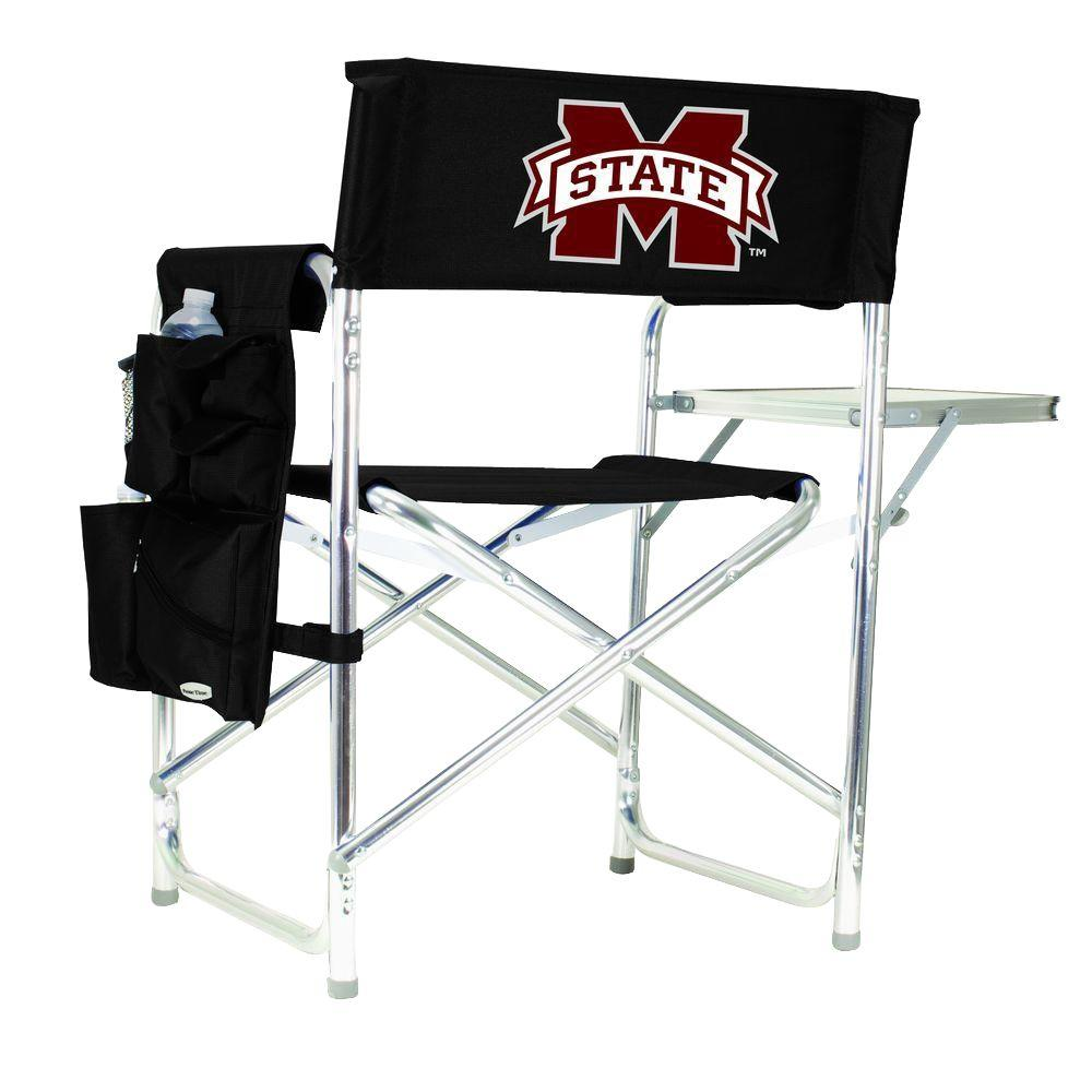 Mississippi State University Black Sports Chair with Digital Logo