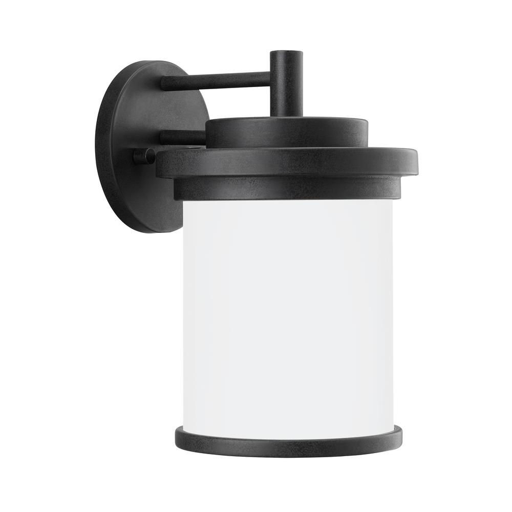 Winnetka Outdoor 1-Light Forged Iron Outdoor Wall Mount Lantern with LED Bulb