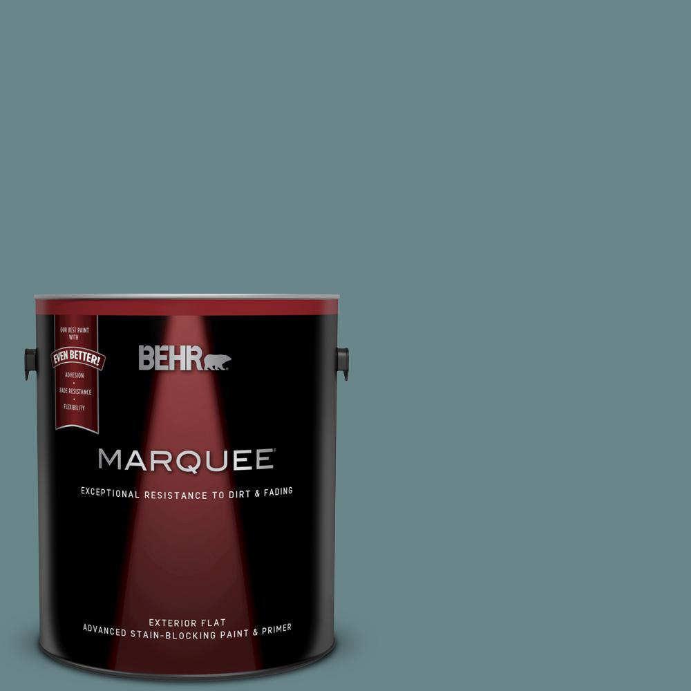 Behr Marquee 1 Gal Mq6 03 Winter In Paris Flat Exterior Paint And Primer In One 445301 The Home Depot
