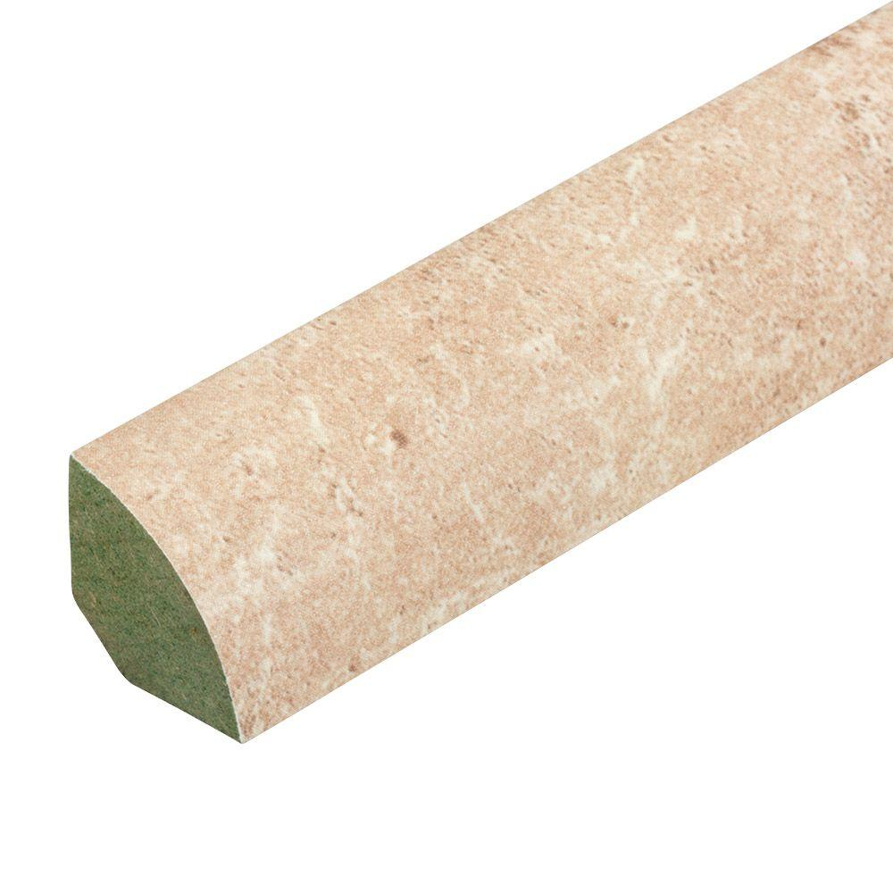 Innovations Tavas Travertine 3/4 in. Thick x 0.75 in. Wide x 94 in. Length Laminate Quarter Round Molding