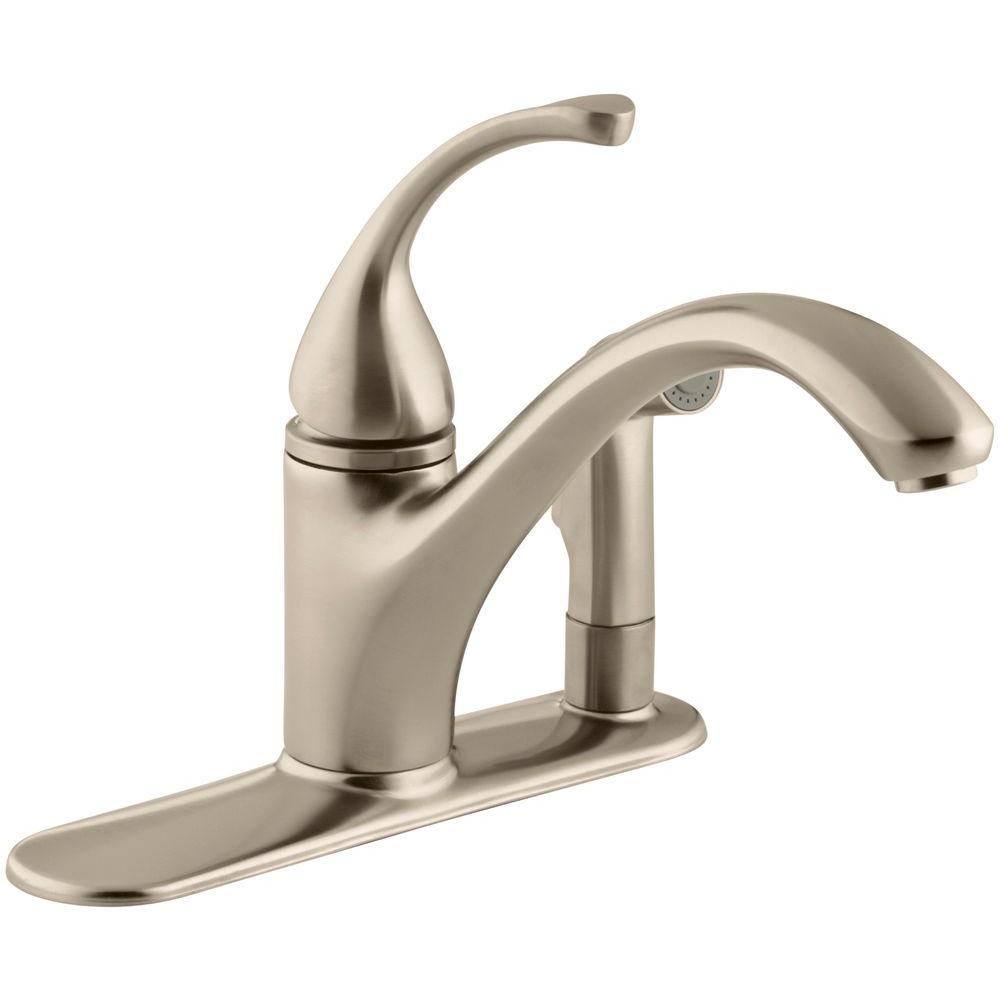 Forte 3-Hole Single-Handle Side Sprayer Kitchen Faucet in Vibrant Brushed Bronze