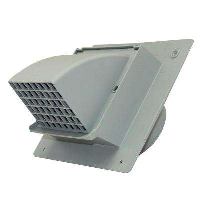 4 in. Heavy Duty Gray Plastic Wall Cap