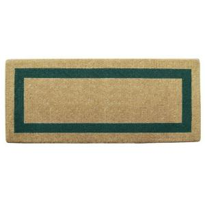 Nedia Home Single Picture Frame Green 24 inch x 57 inch Coir Door Mat by Nedia Home