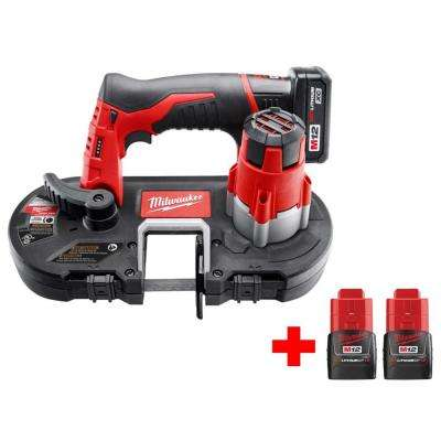 M12 12-Volt Lithium-Ion Cordless Sub-Compact Band Saw Kit With Two Free M12 2.0 Ah Batteries