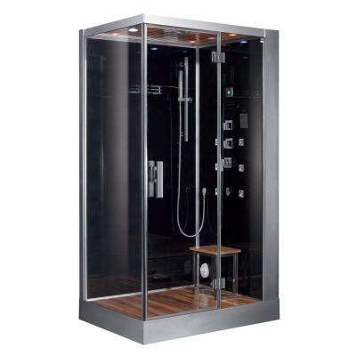 47 in. x 35.4 in. x 89.1 in. Steam Shower Enclosure Kit in Black