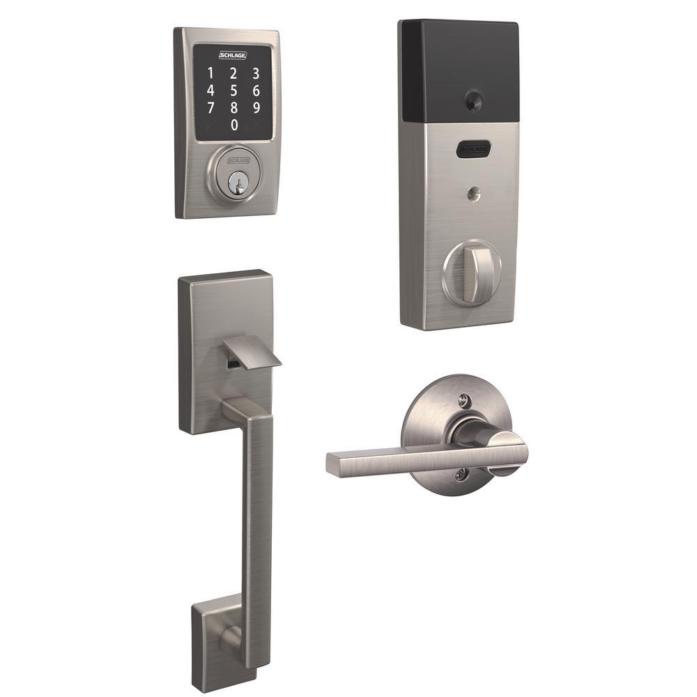 Schlage Century Satin Nickel Connect Smart Lock With Alarm
