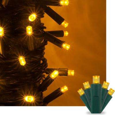 50-Light Gold 5 mm LED Mini Light Set - Gold - Christmas String Lights - Christmas Lights - The Home Depot