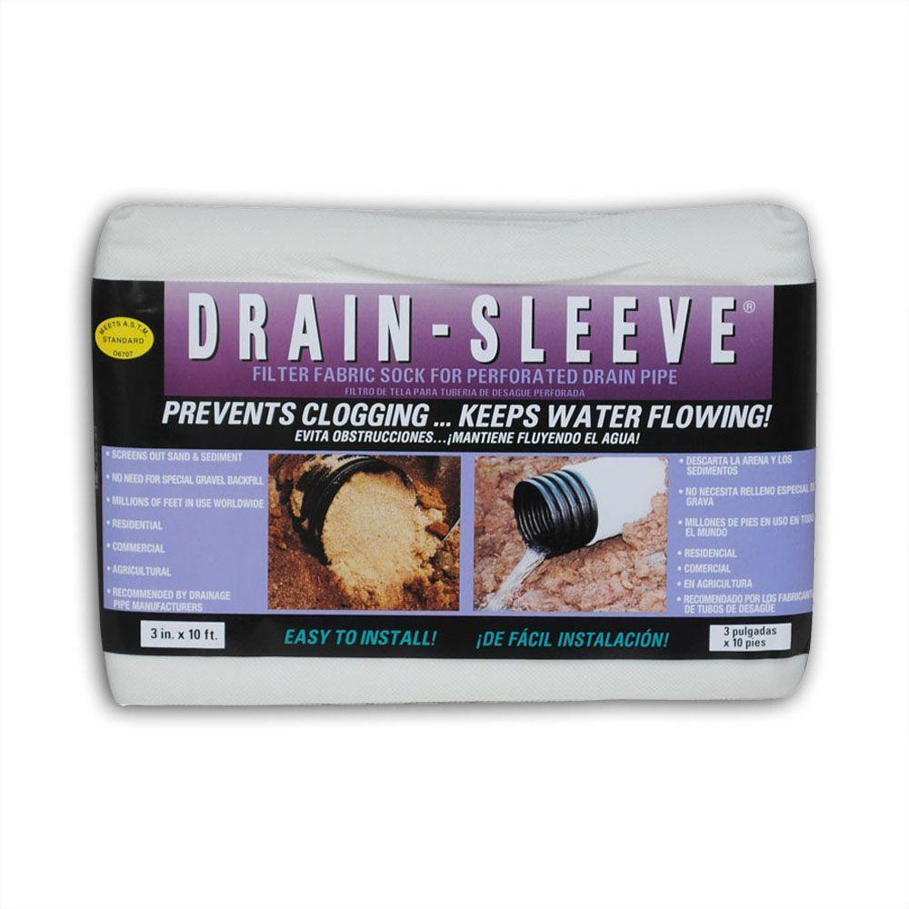 Drain-Sleeve 3 in. x 10 ft. Filter Sock
