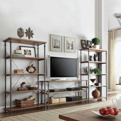 Grove Place Rustic Pine Open Bookcase