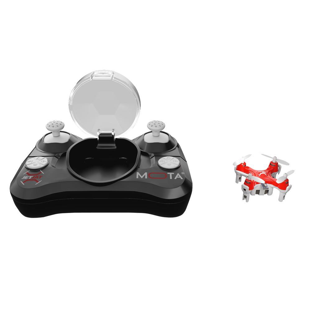 JETJAT Nano Drone Quadcopter Wireless Standard Surveillance Camera with Controller, Black