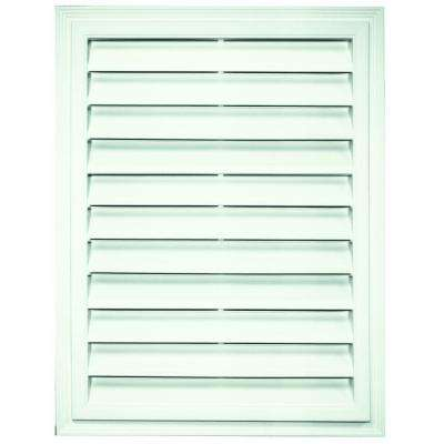 18 in. x 24 in. Rectangle Gable Vent in White