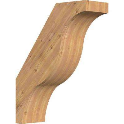 5.5 in. x 20 in. x 16 in. Western Red Cedar Fuston Smooth Brace