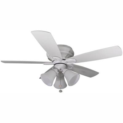Maris 44 in. LED Indoor Matte White Ceiling Fan with Light Kit