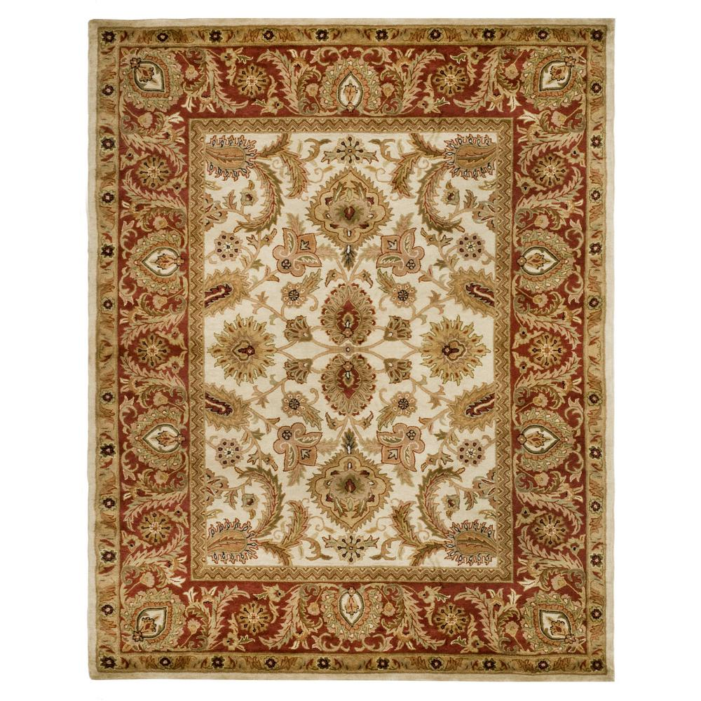 Classic Ivory/Red 6 ft. x 9 ft. Area Rug