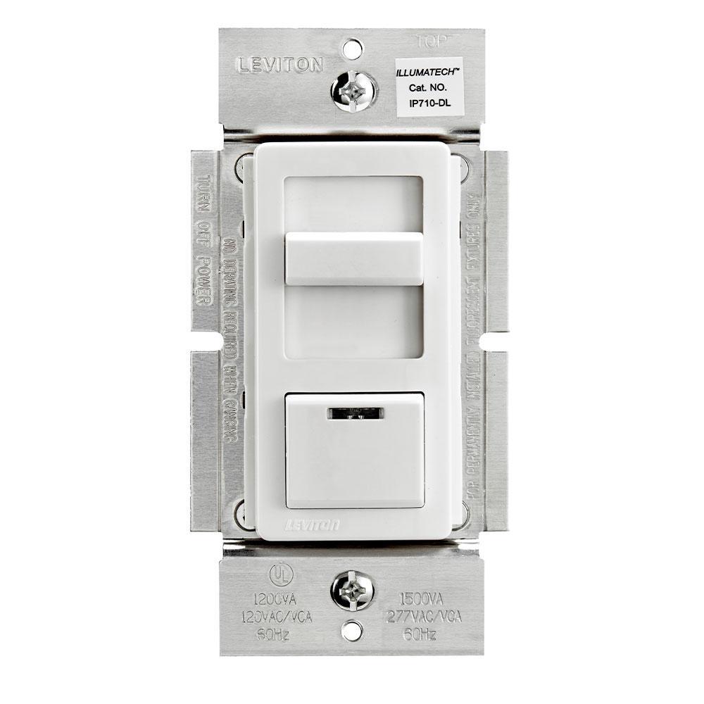 leviton illumatech slide dimmer for led 0-10v power supplies, 1200va, 10a  led