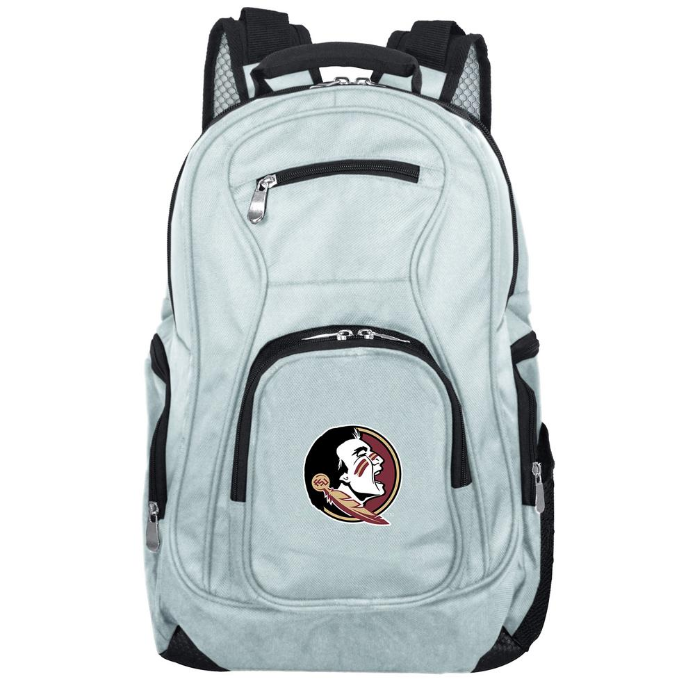 923f7e8e18fa Denco NCAA Florida State Seminoles 19 in. Gray Laptop Backpack-CLFSL704 GRAY  - The Home Depot