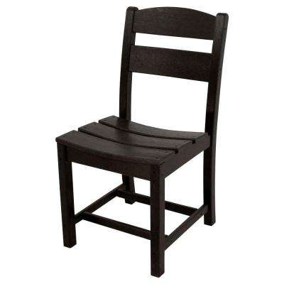 Classics Black All-Weather Plastic Outdoor Dining Side Chair