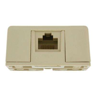 8P8C Surface Mount Jack, Ivory