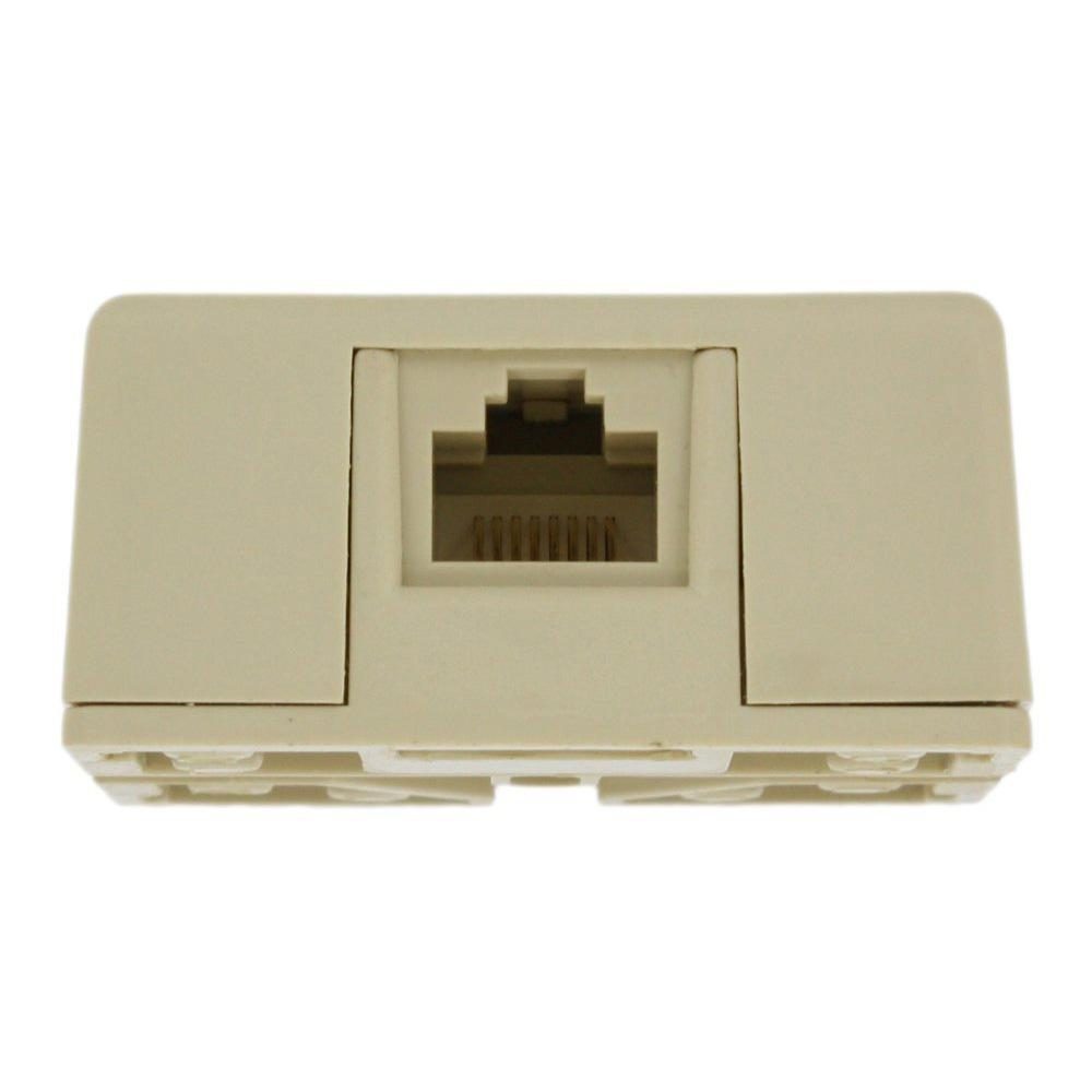 4 conductor Surface Mount Ivory Telephone Buscuit Jack