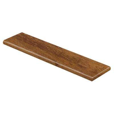 Barnes Mill Oak 94 in. Length x 12-1/8 in. Deep x 1-11/16 in. Height Laminate Right Return to Cover Stairs 1 in. Thick