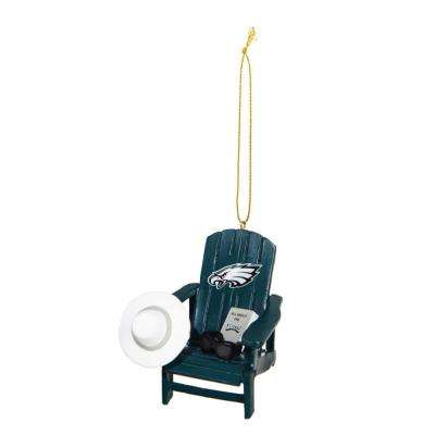 Philadelphia Eagles 3-1/2 in. NFL Adirondack Chair Christmas Ornament