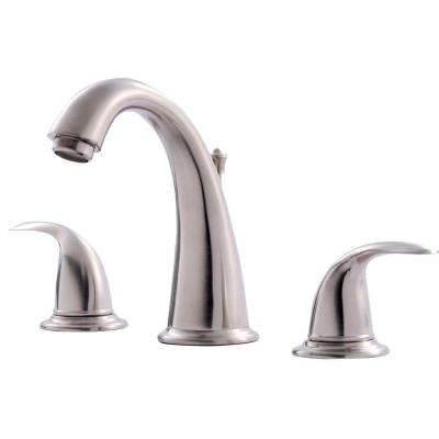 Vantage Collection 8 in. Widespread 2-Handle Bathroom Faucet with Pop-Up Drain in Brushed Nickel