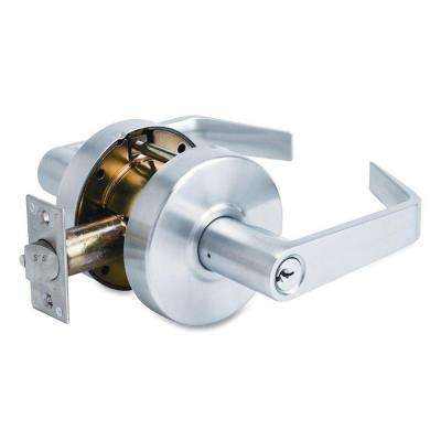 Heavy-duty Chrome Storeroom Door Lever