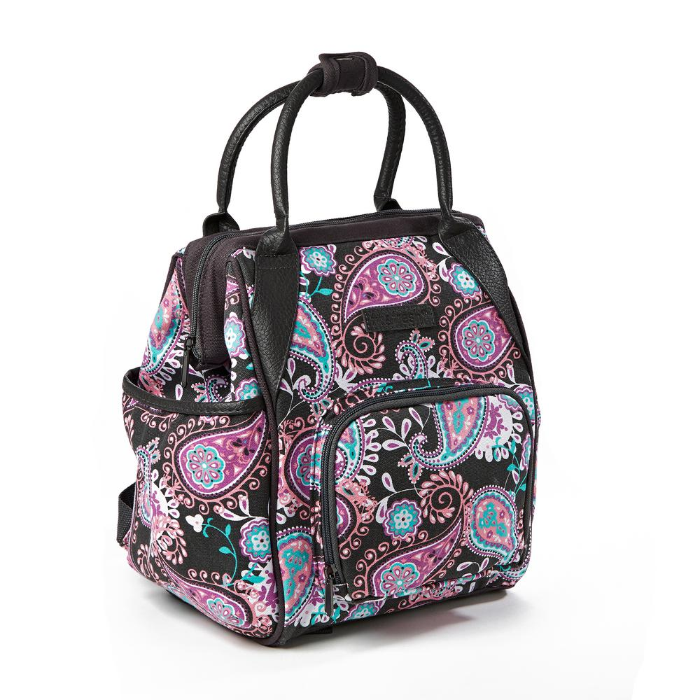 Fit and Fresh Piper Pink Paisley Small Insulated Backpack Lunch Bag-6506FF808WEB  - The Home Depot adf5f1a1e721