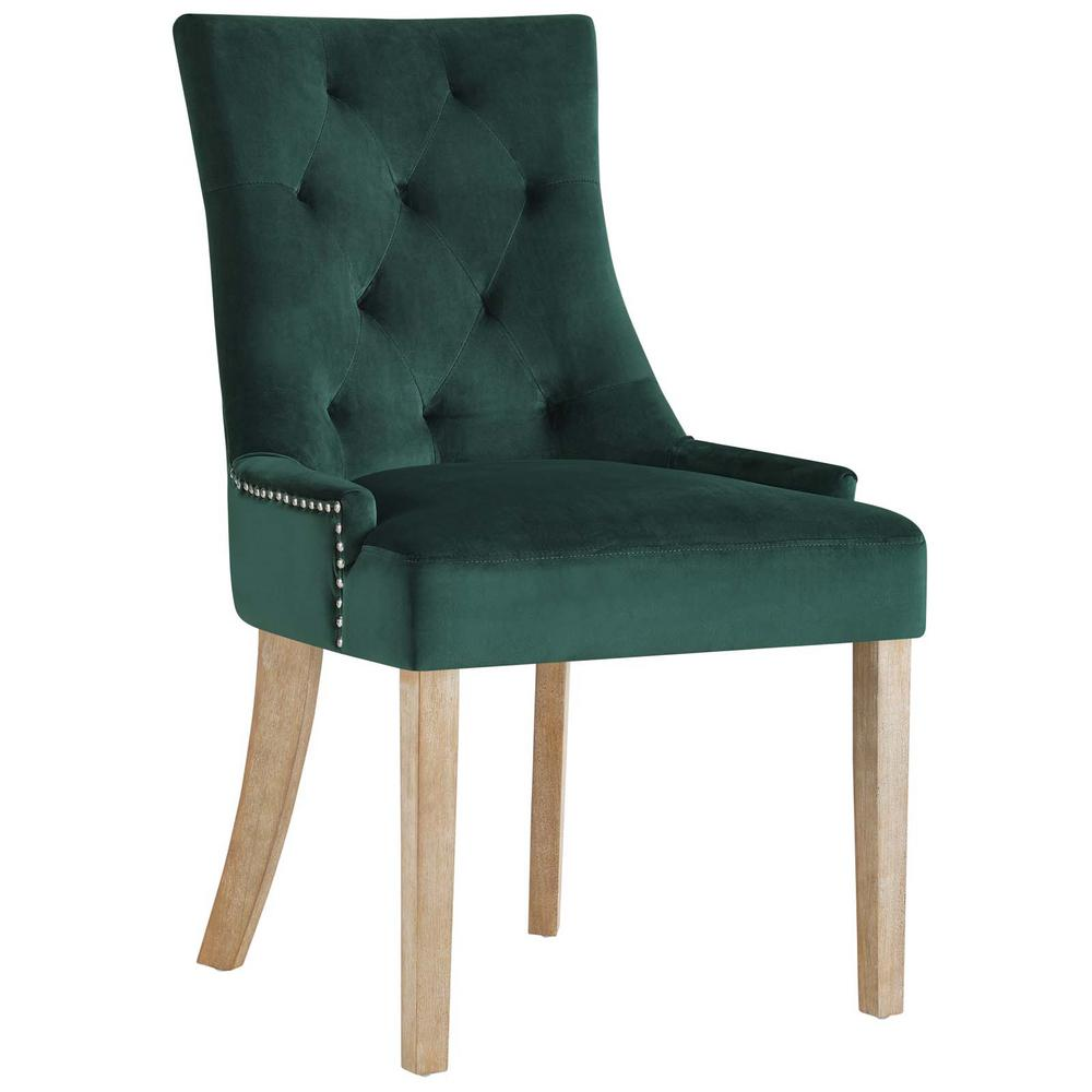 Modway pose green upholstered fabric dining chair eei 2577 for Printed upholstered dining chairs