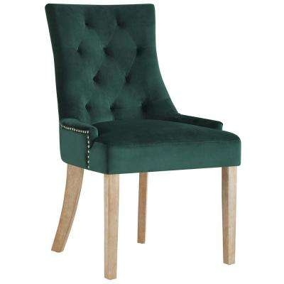Pose Green Upholstered Fabric Dining Chair
