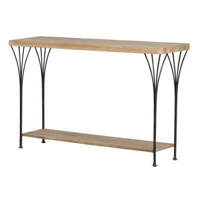 Thetford 40 in. W Weathered Natural Media Console Table
