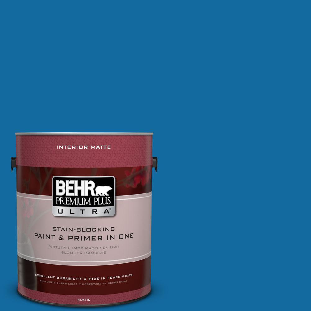 BEHR Premium Plus Ultra 1 gal. #P500-7 Cosmic Cobalt Matte Interior Paint