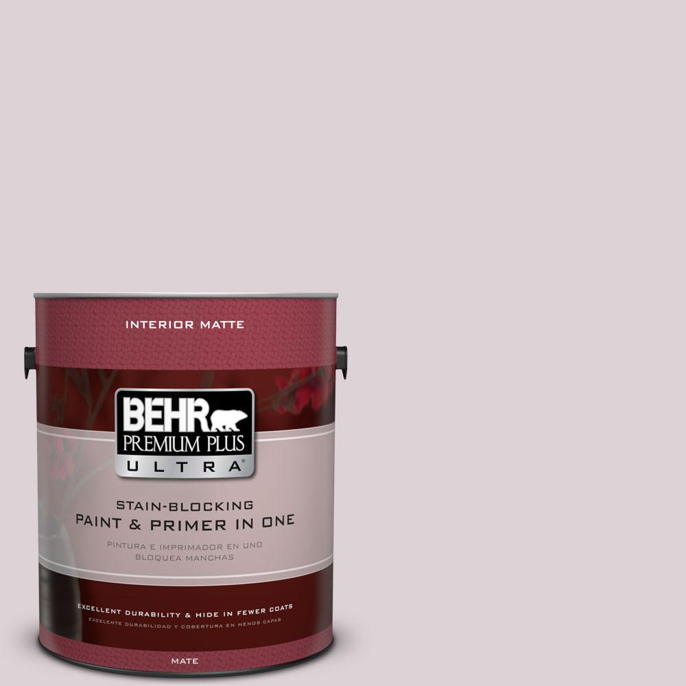 BEHR Premium Plus Ultra 1 gal. #100E-2 Mauve Mist Flat/Matte Interior Paint