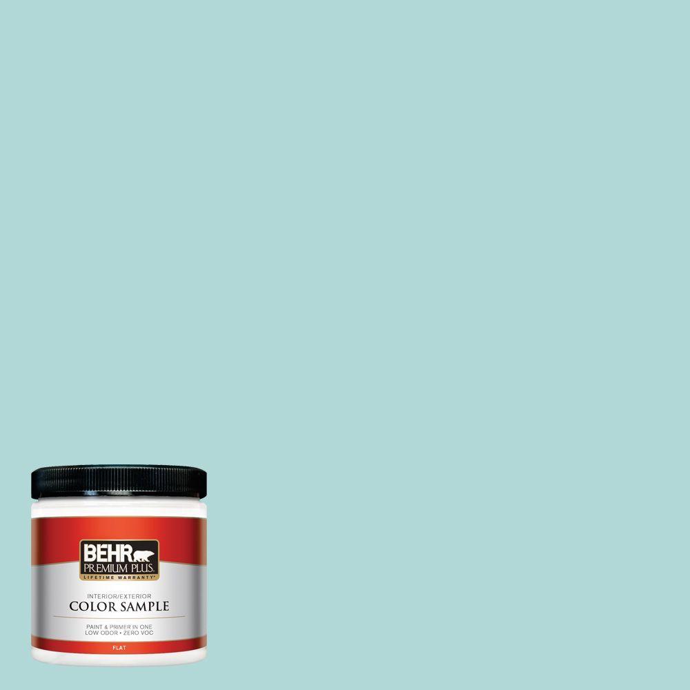 8 oz. #T12-19 Sugar Pool Zero VOC Interior/Exterior Paint Sample