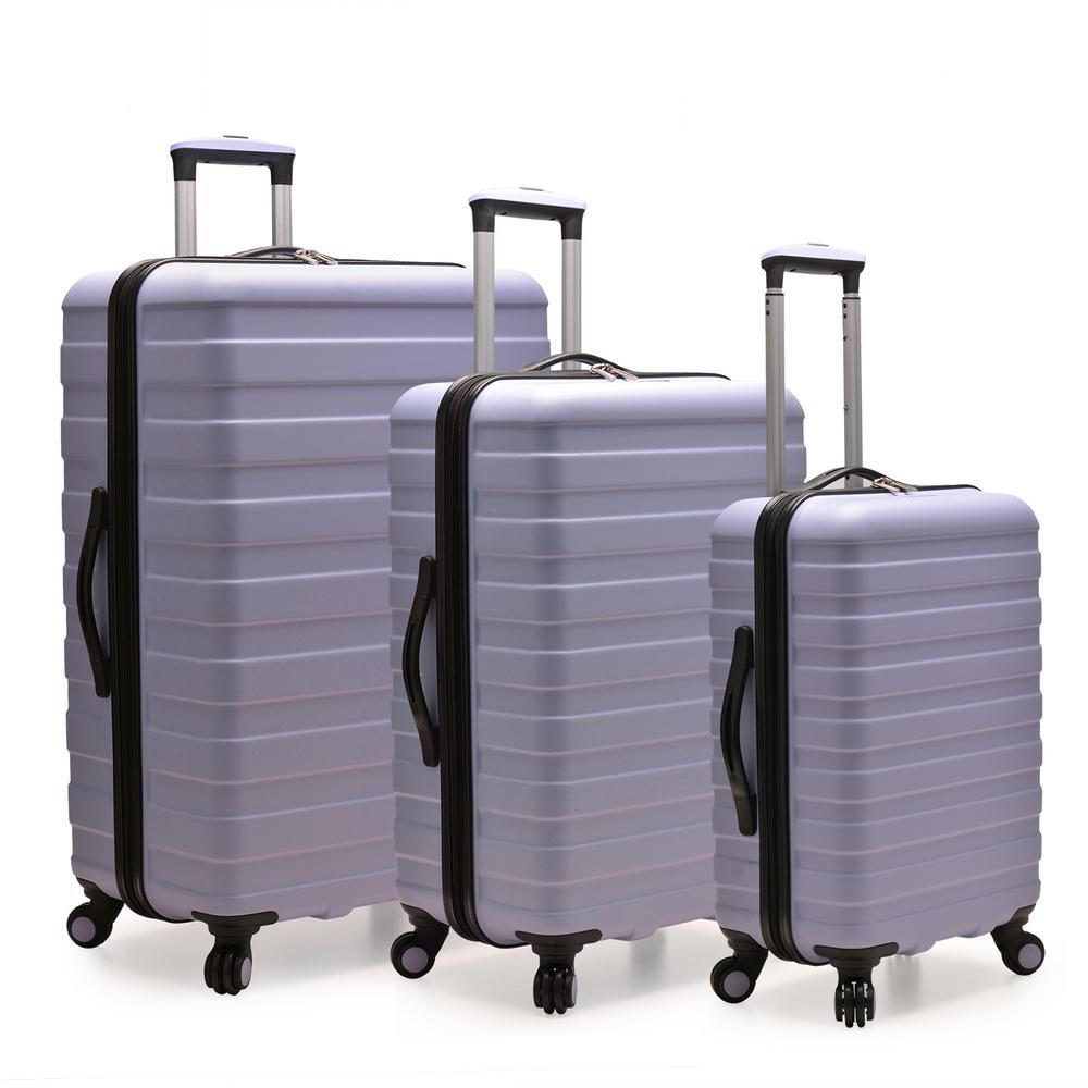 U.S. Traveler Cypress Colorful 3-Piece Lavender Hardside Spinner Luggage Set